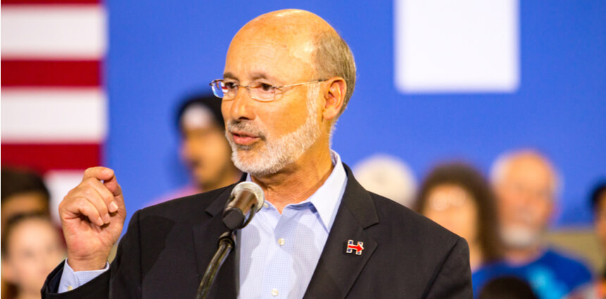 online gambling PA gov wolf sign