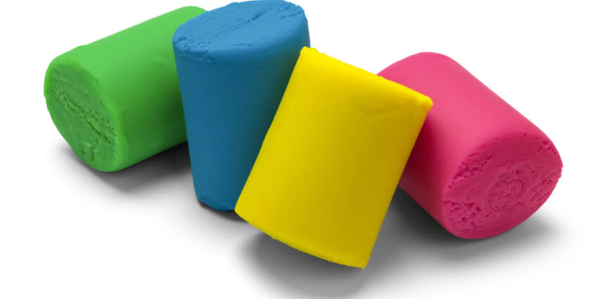 different colored play doh